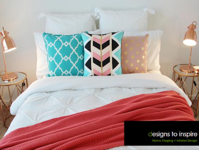 Teal Pink Designer Bedroom