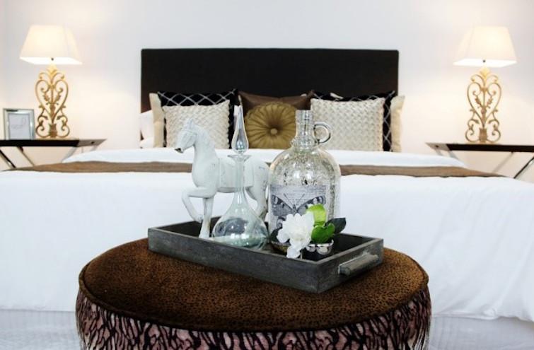 Designer Bedroom Gold Elegant Styling
