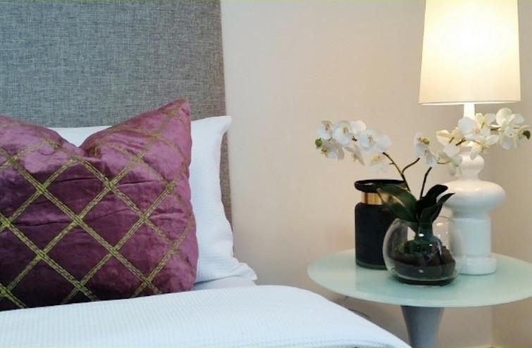 Modern luxurious bedroom style velvet cushion