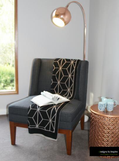 Designer bedroom corner chair